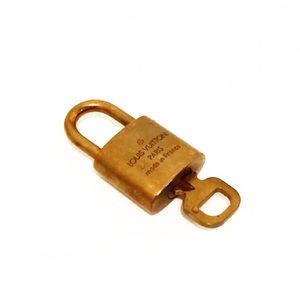 Authentic Vuitton Brass Padlock & Key #310
